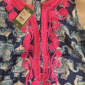 ff80af85b37339 Lilly Pulitzer Dresses - Carlotta Stretch Shift Dress Deep Indigo Joy Ride